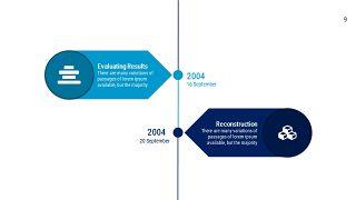 蓝色扁平化流程图PPT图表-9