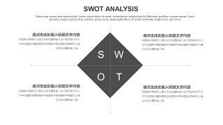 灰色SWOT分析图表-4