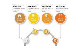 橙色系并列关系PPT图表-2