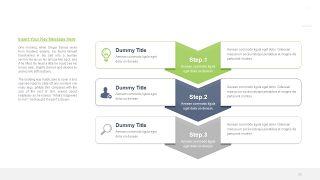 绿色三项关系PPT图表-20