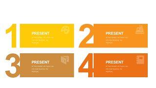 橙色系并列关系PPT图表-24