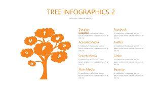 橙色总分关系PPT图表-6