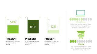 小清新绿色商务PPT图表-18