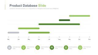 绿色甘特图PPT图表-27