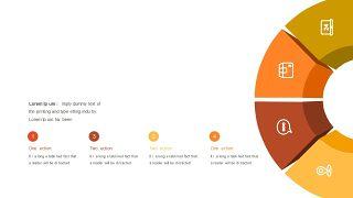 红橙色箭头雷达图PPT图表-19