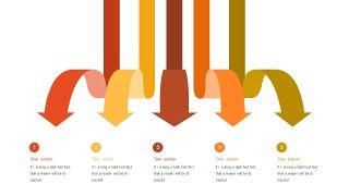 红橙色箭头雷达图PPT图表-15