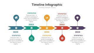 彩色总分关系时间轴PPT图表-16
