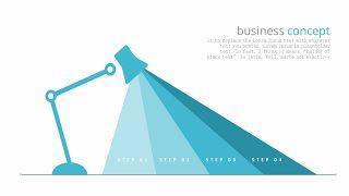 蓝色折线PPT图表-19