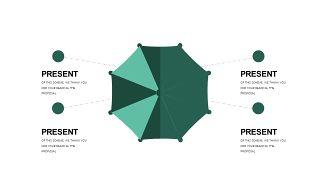 墨绿色创意设计PPT图表-2