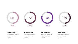 深紫色系商务PPT图表-9