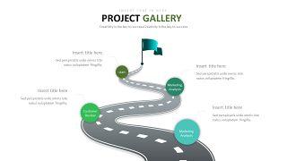 绿色并列关系图表-7