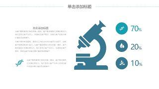 蓝色医学医疗医用PPT图表19