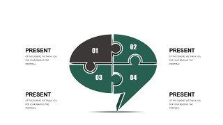 墨绿色创意设计PPT图表-11