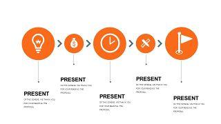 橙色简约通用PPT图表-5