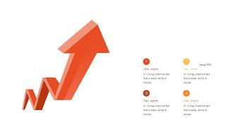 红橙色箭头雷达图PPT图表-8