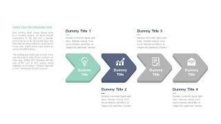 清新四项并列关系PPT图表-20