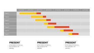橙色系并列关系PPT图表-27