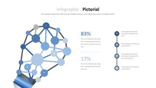 蓝色对比关系PPT图表-13