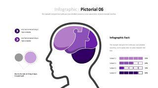 紫色商务对比关系PPT图表-17