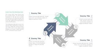 清新四项并列关系PPT图表-3