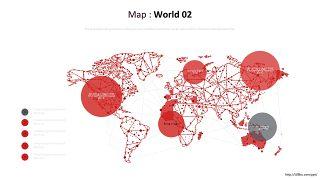 世界地图PPT图表-1