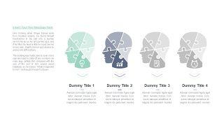 清新四项并列关系PPT图表-22