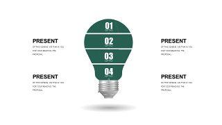墨绿色创意设计PPT图表-23