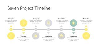 黄灰色鱼骨流程图PPT图表-16