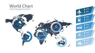 浅蓝色五项并列关系PPT图表-29
