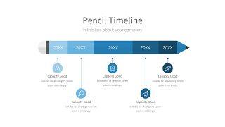 浅蓝色五项并列关系PPT图表-11