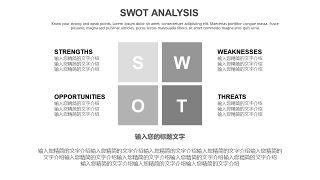 灰色SWOT分析图表-3