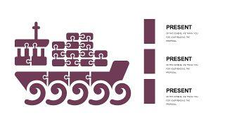 深紫色系商务PPT图表-30