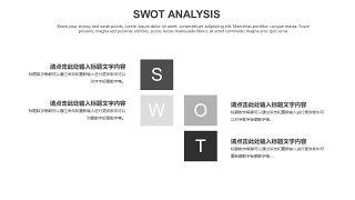 灰色SWOT分析图表-27