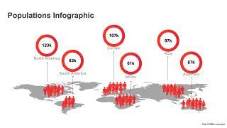 红色世界地图PPT图表-16