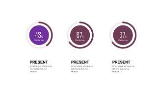深紫色系商务PPT图表-7
