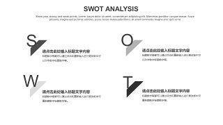 灰色SWOT分析图表-29
