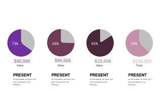 深紫色系商务PPT图表-8