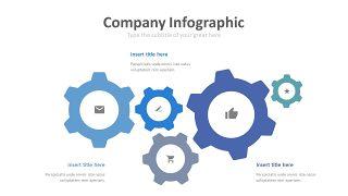 蓝色齿轮商务PPT图表-5