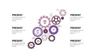 深紫色系商务PPT图表-4
