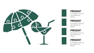 墨绿色创意设计PPT图表-13
