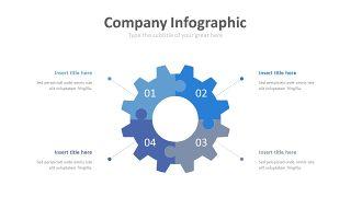 蓝色齿轮商务PPT图表-2