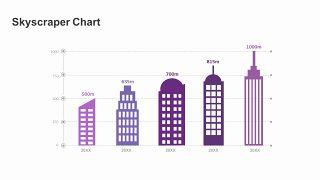紫色商务对比关系PPT图表-1
