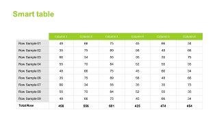 绿色甘特图PPT图表-18