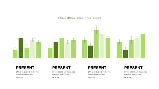 小清新绿色商务PPT图表-10