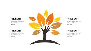 橙色系并列关系PPT图表-7