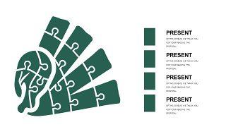 墨绿色创意设计PPT图表-25