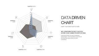 灰色雷达图PPT图表-28