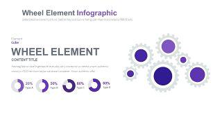 淡紫色循环关系PPT图表-10