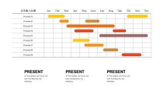 橙色系并列关系PPT图表-28