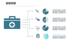 蓝色医学医疗医用PPT图表20